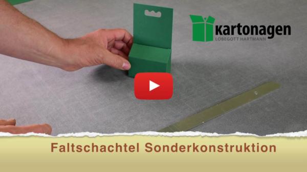 Sonderkonstruktion Faltschachtel